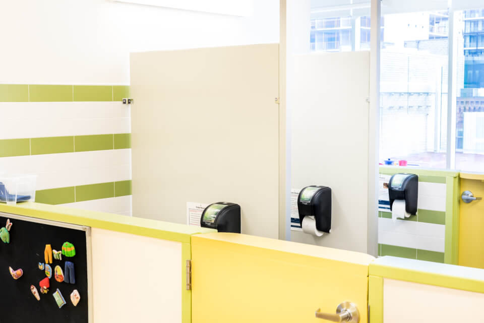 Queen West Daycare Centre Downtown Toronto space clean bathrooms