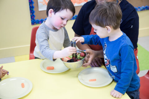 healthy meals at montessori preschool