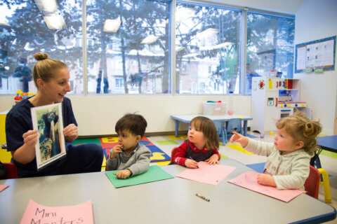 reading and learning montessori school