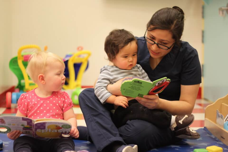 reading with Early Childhood Educator