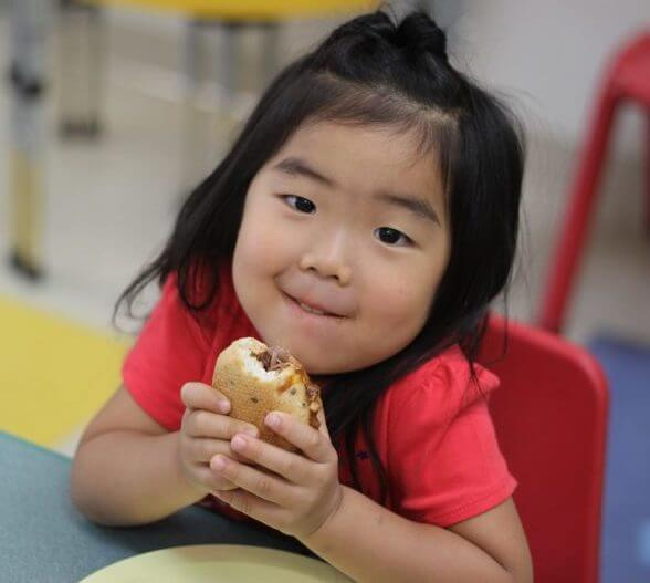 healthy sandwich at daycare