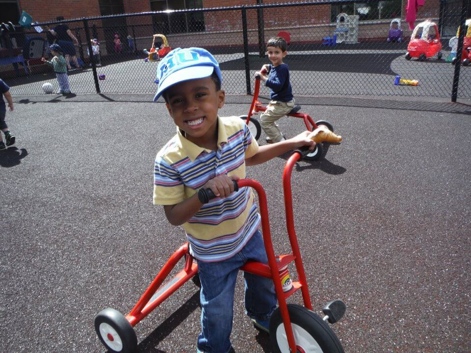 playing outside activities at daycare