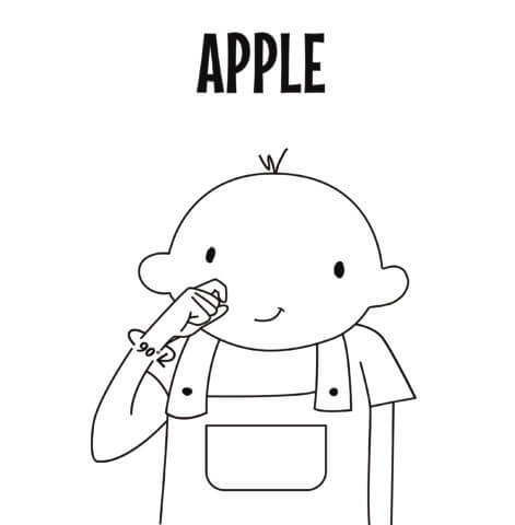 Apple in Sign Language