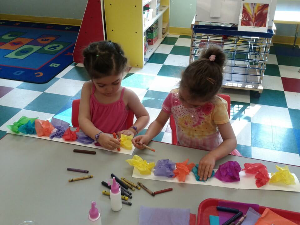 arts and crafts at daycare