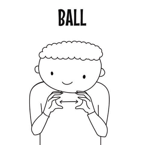 Ball in Sign Language