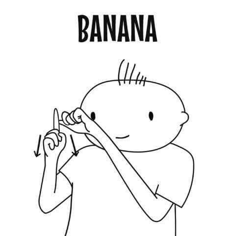 Banana in Sign Language