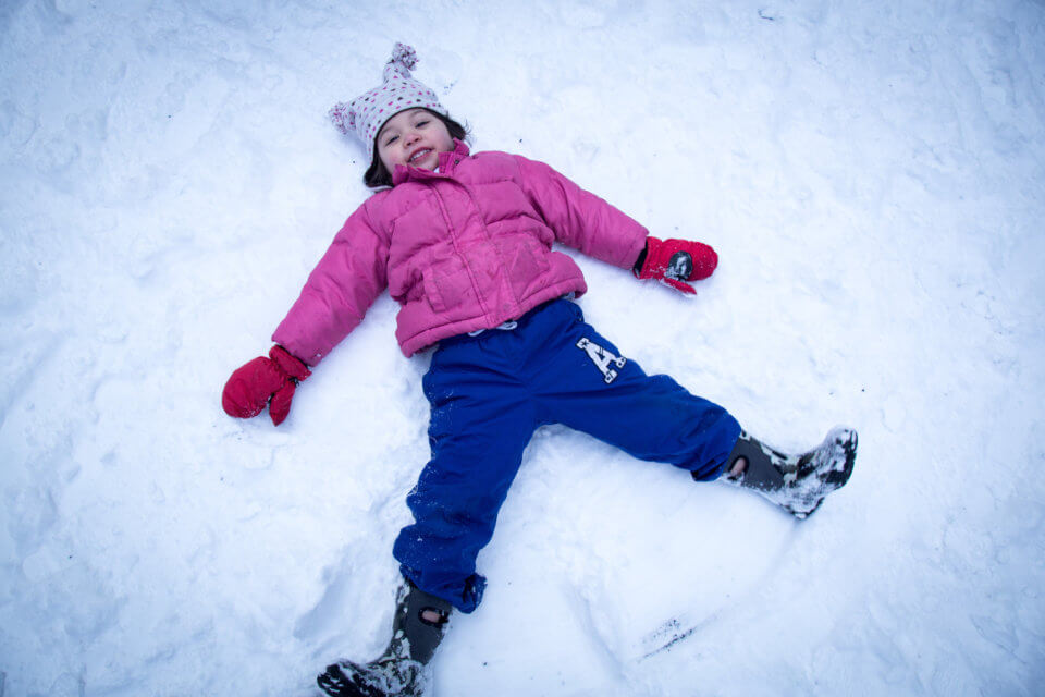 creating snow angels