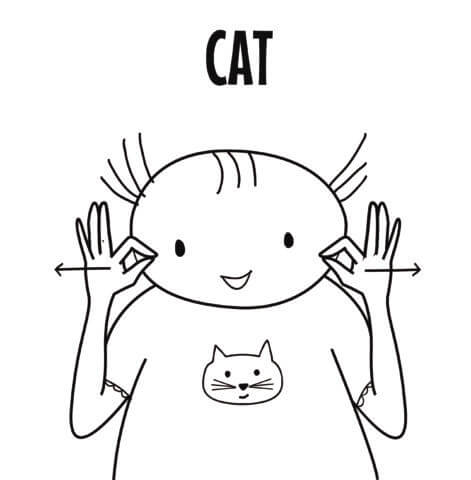 Cat in Sign Language