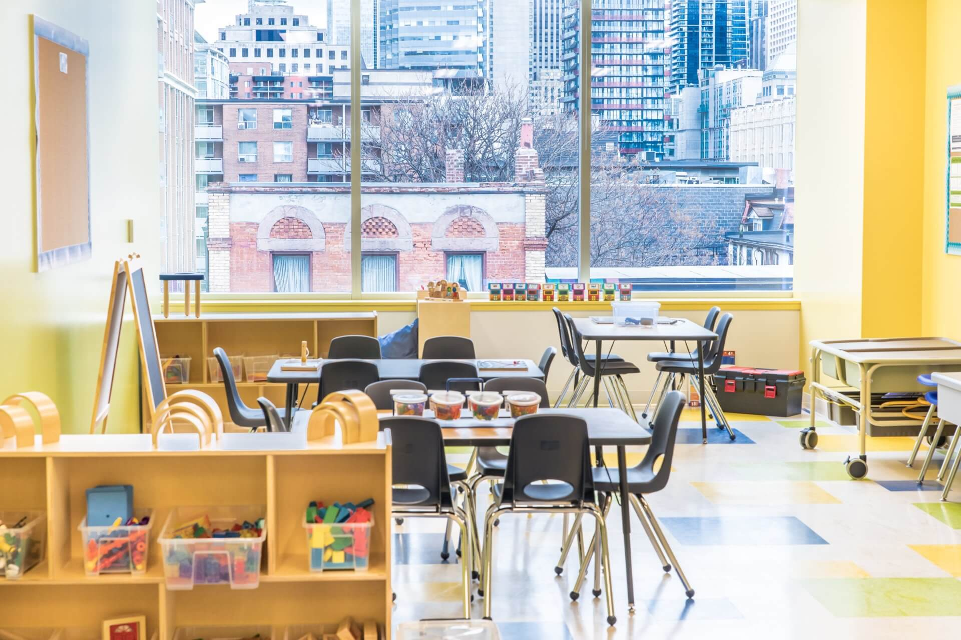 kids & company co-working space at daycare centre