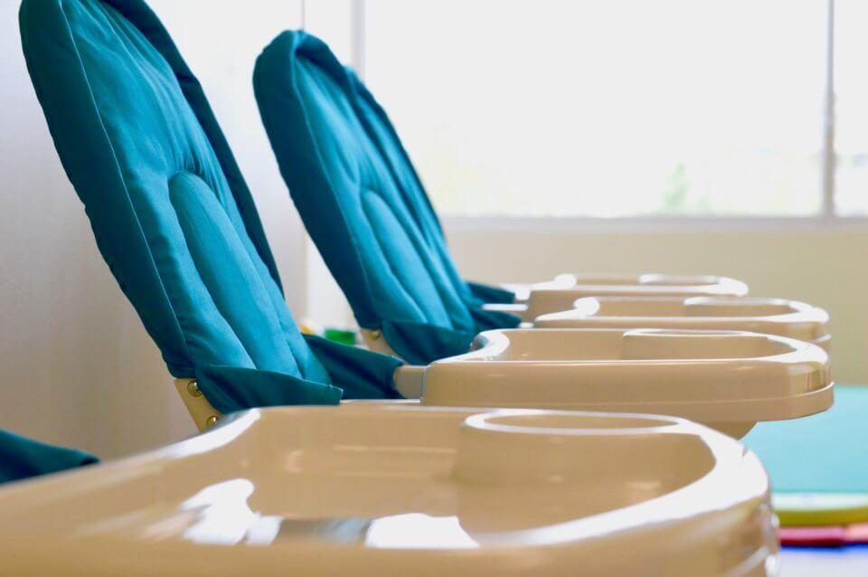 Marda Loop Childcare high chairs