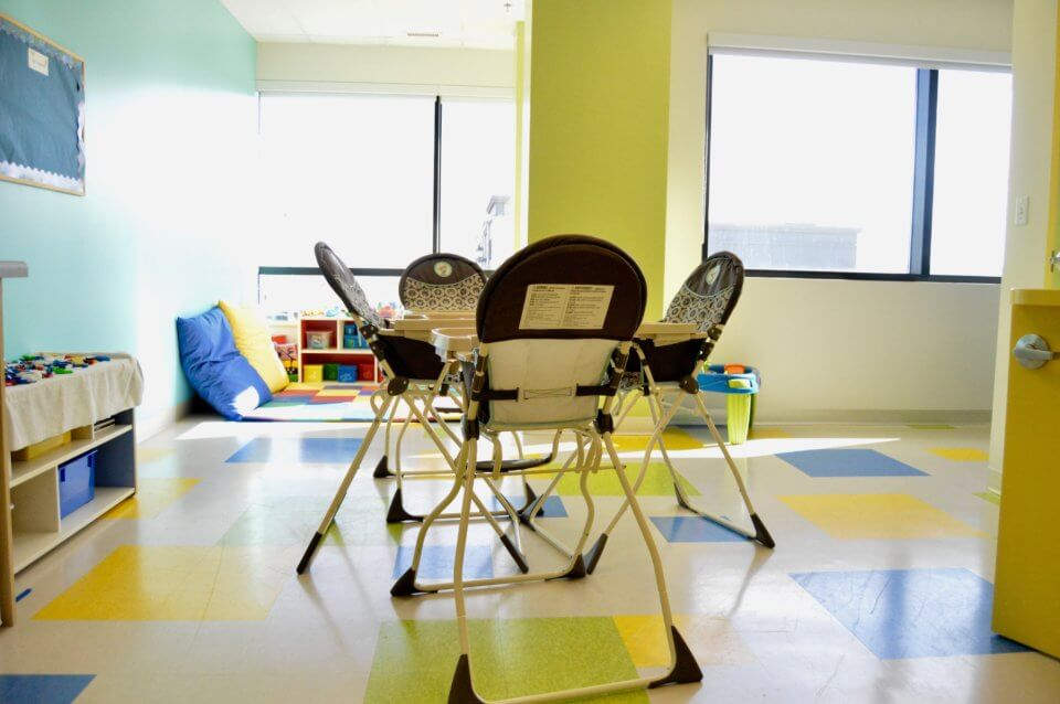 high chairs for infants at red deer daycare
