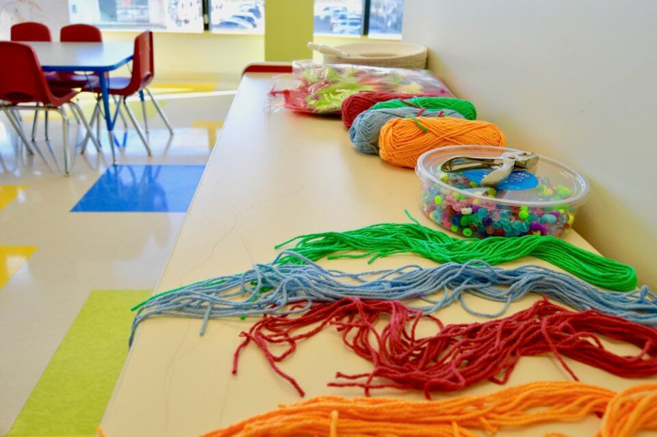 beads and yarn