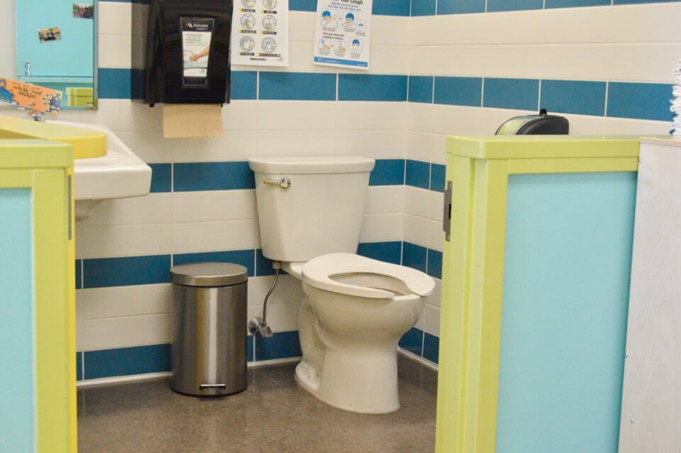Clean bathroom at Red Deer Daycare Centre
