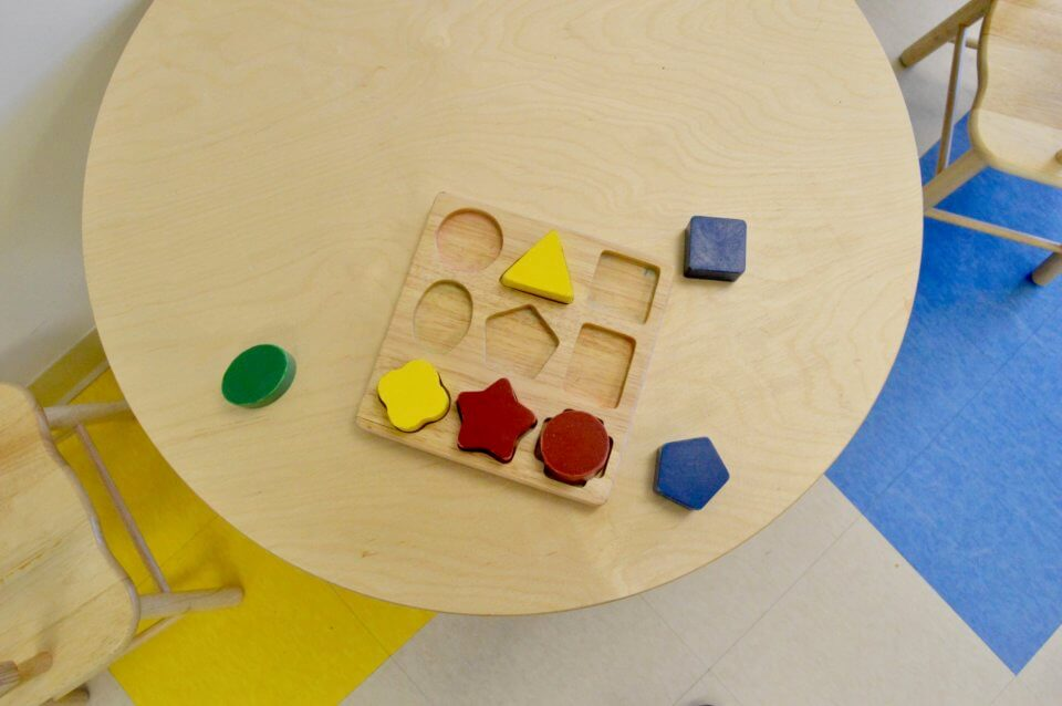 Shape toy for learning at daycare