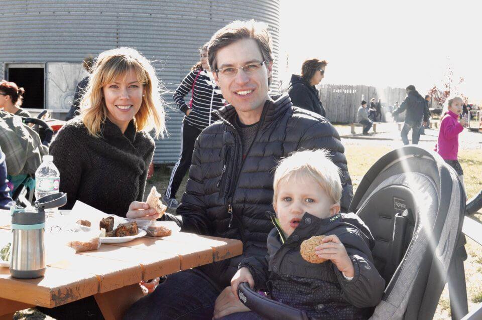 family photo on a fieldtrip