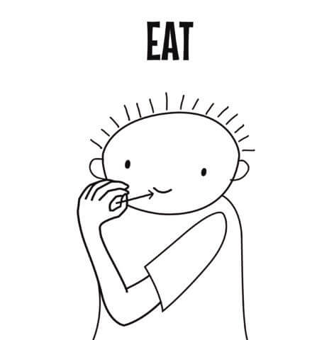 Eat in Sign Language