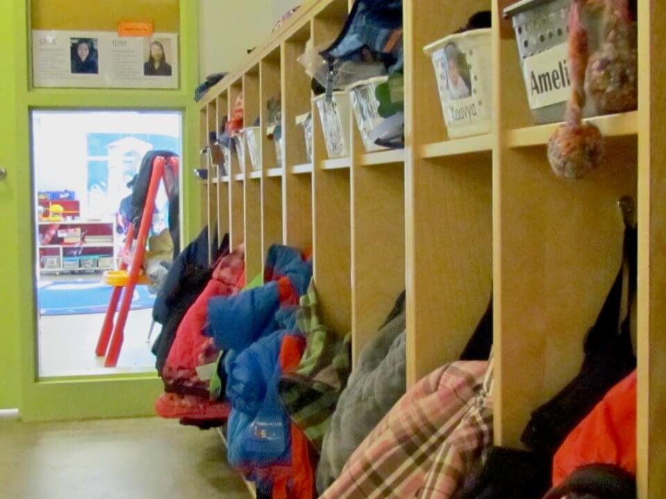 Smart Tech Kids and Company cubbies with coats