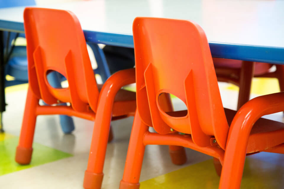 little chairs for kids at bloor daycare centre