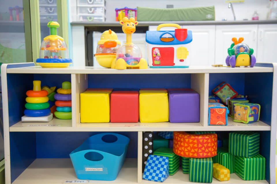 Bloor Christie daycare centre organized toys in shelves