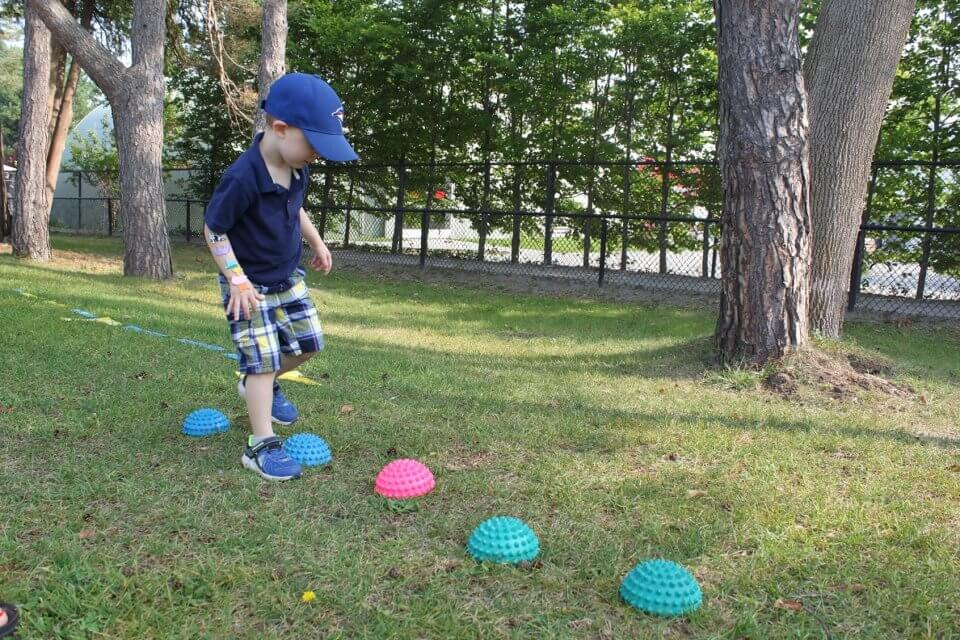 outdoor activity at aviation crossing daycare centre