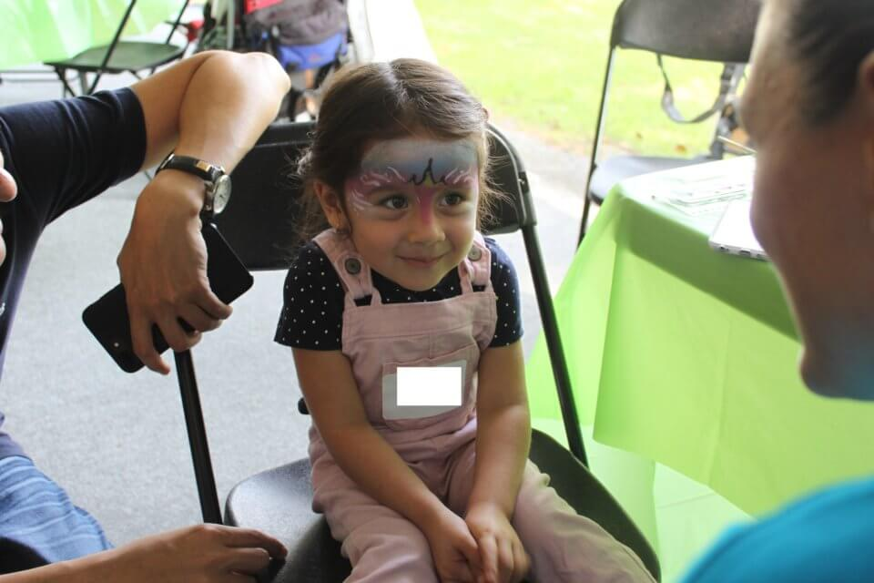 fun face paint at daycare activity