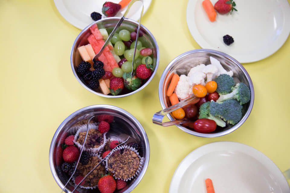 Bloor Christie daycare centre healthy snacks for kids