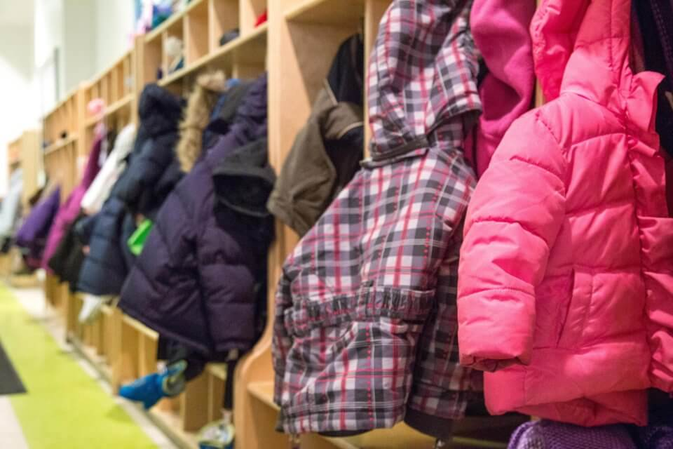 Bloor Christie daycare centre cubbies for coats