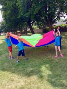 Kids having fun at camp