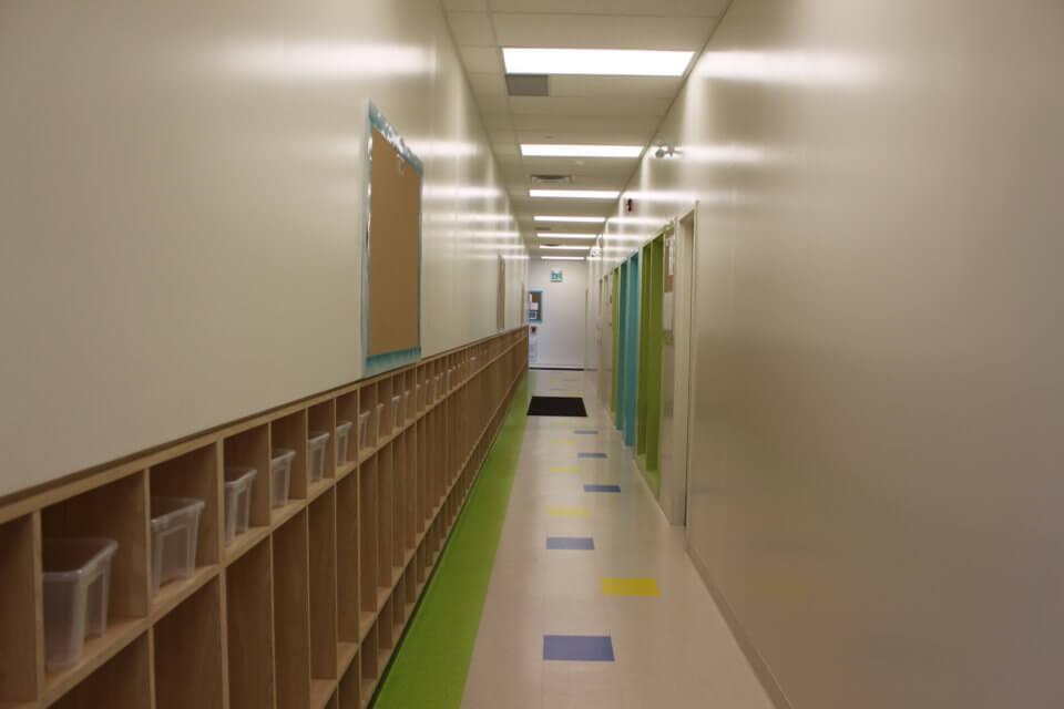 daycare clean hallway
