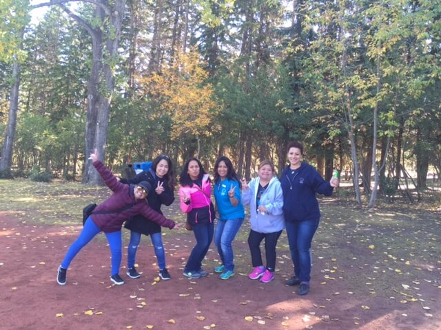 outdoor activity with ECE teachers at aviation crossing daycare centre