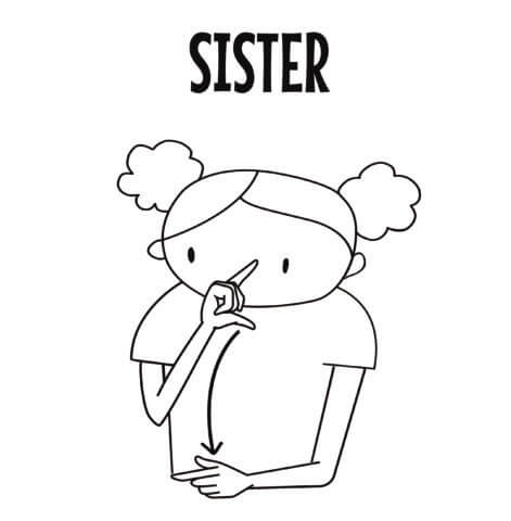 Sister in Sign Language