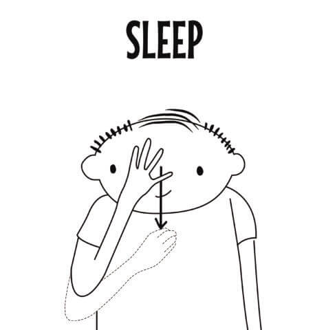 Sleep in Sign Language