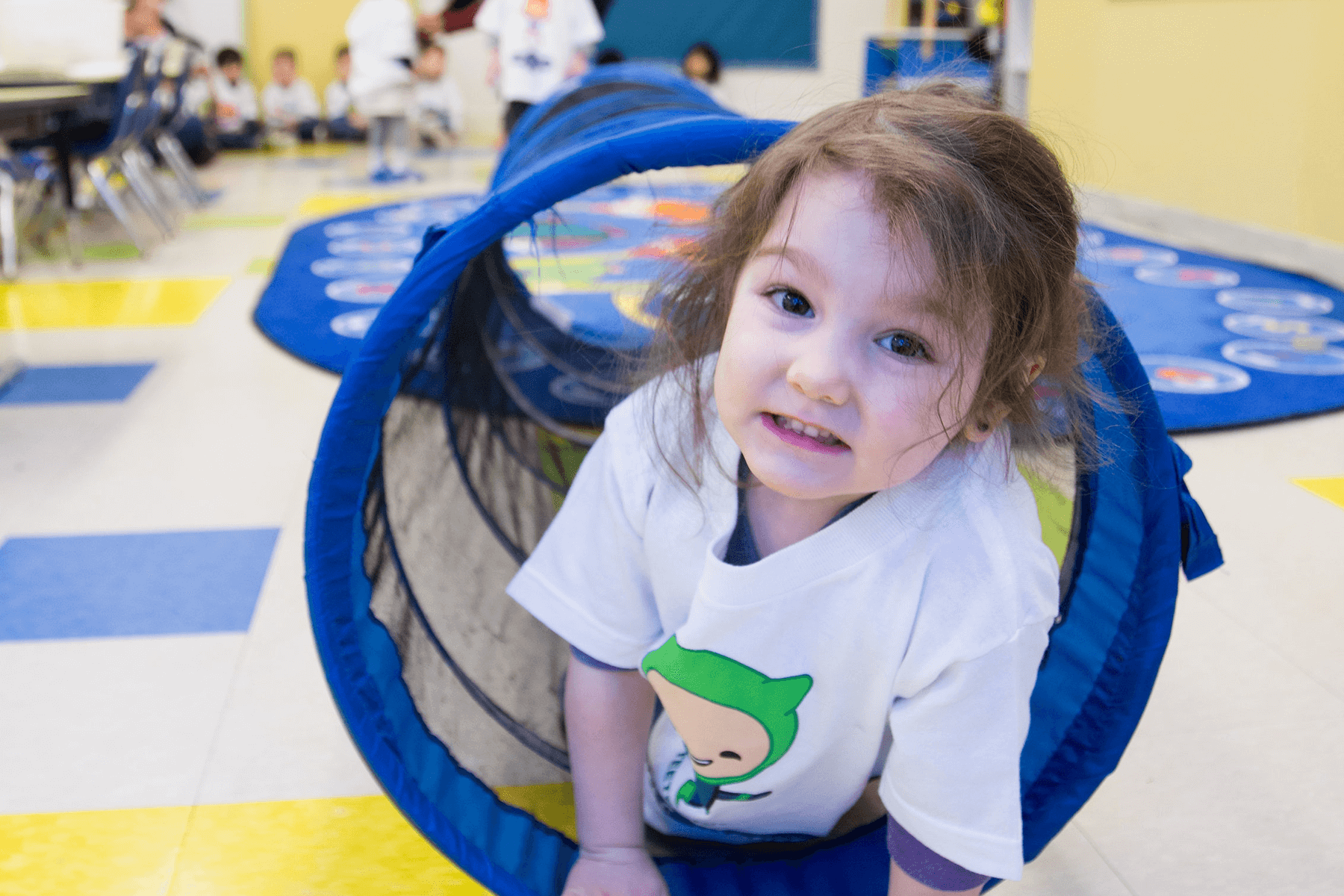 child having fun at daycare