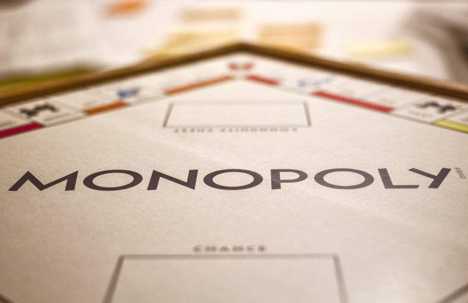 Game night with the family - monopoly board